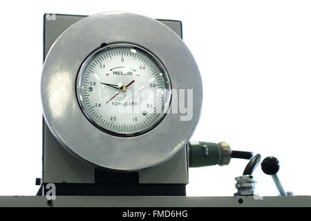 The indicator of pressure on a white background - Stock Photo
