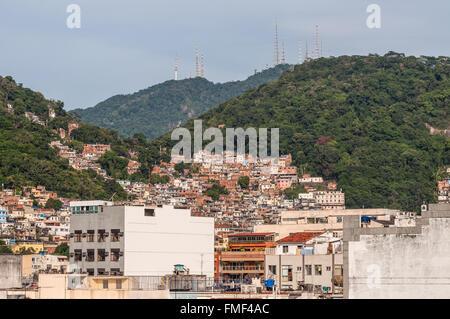 The favelas of Rio de Janeiro, Brazil - Stock Photo