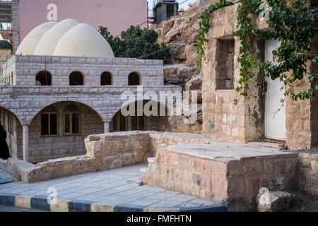 Moses Spring in Wadi Musa, Hashemite Kingdom of Jordan, Middle East. - Stock Photo