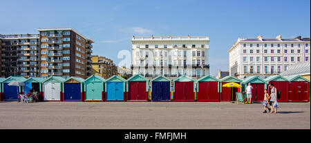 Brighton and Hove regency / Edwardian / Victorian architecture, illustrating it's past. beach huts UK - Stock Photo