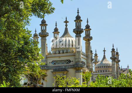 Brighton and Hove regency / Edwardian / Victorian architecture, illustrating it's past. Royal Pavilion UK - Stock Photo