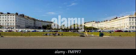 Brighton and Hove regency / Edwardian / Victorian architecture, illustrating it's past. The main promenade showing - Stock Photo