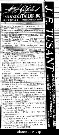 1903 Des Moines and Polk County, Iowa, City Directory (1903) - Stock Photo