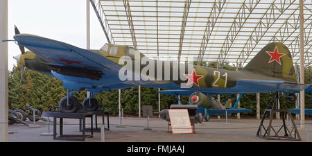MOSCOW, RUSSIA- OCTOBER 7- Il-2 - Ground attack aircraft(USSR),1941.Max.speed, km/h-450 in the Central Museum of - Stock Photo
