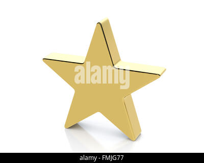 Gold Star Icon 3d Gold Render Illustration Stock Photo 174716064