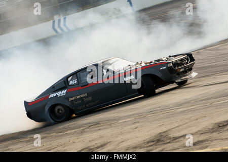 Corby, UK. 12th Mar, 2016.  Drift Car during Drift Matsuri at Rockingham Motor Speedway on March 12, 2016 in Corby, - Stock Photo