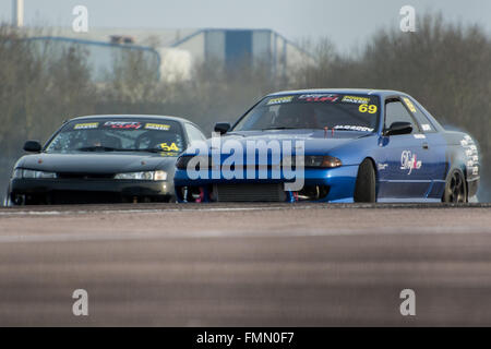 Corby, UK. 12th Mar, 2016. Drift Cars during Drift Matsuri at Rockingham Motor Speedway on March 12, 2016 in Corby, - Stock Photo