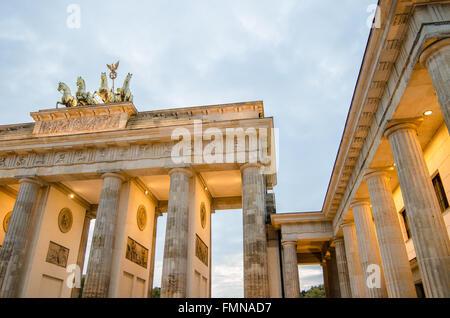 Brandenburg Gate in Berlin - Stock Photo
