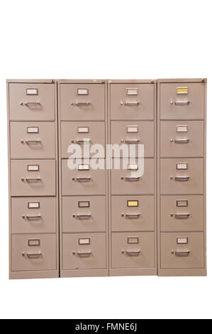 Set of used File Cabinets - Stock Photo