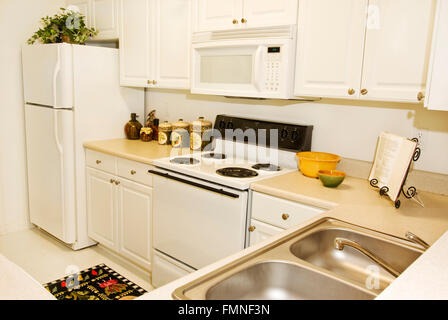 Upscale Apartment Kitchen Revised - Stock Photo