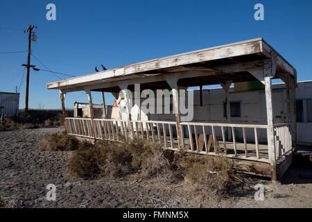 Abandoned Mobile Home Salton Sea Beach California USA