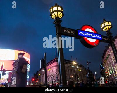 Piccadilly Underground station - Stock Photo