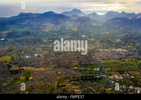 Cape Town, Southern Suburbs, aerial view, Western Cape, South Africa - Stock Photo
