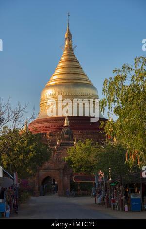 Dhammayazika temple in Bagan, Myanmar - Stock Photo