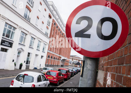 20mph speed sign - Stock Photo