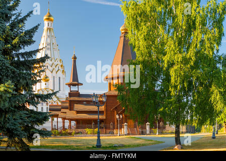 Orthodox Church of All Saints in Minsk at sunset - Stock Photo