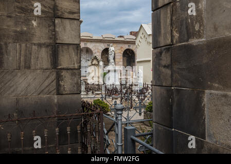Poblenou Cemetery - Cementiri de l'Est (East cemetery) in Barcelona, Spain - Stock Photo