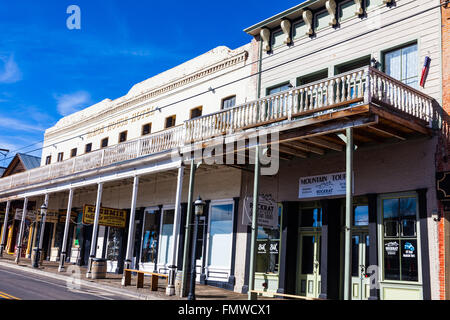 Street scene of Virginia City, Nevada, USA - Stock Photo