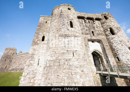 Kidwelly Castle,Kidwelly,Carmarthenshire,Wales,U.K.,Europe. - Stock Photo
