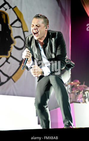 Sheffield, UK. 12th March, 2016. John Newman Live in Concert Credit:  Robin Burns/Alamy Live News - Stock Photo