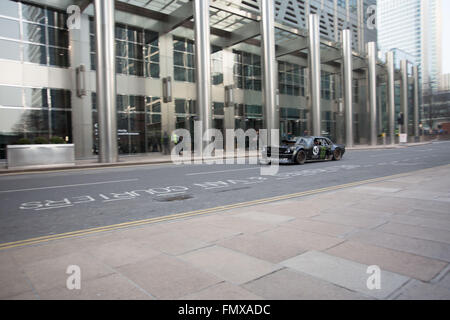 Canary Wharf, London, UK. 12th March, 2016. Ken Block car being filmed for Top Gear in Canary Wharf. Saturday 12th - Stock Photo