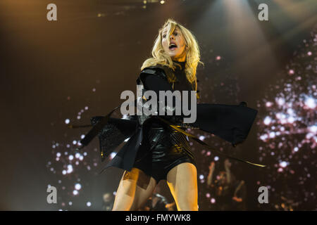 Sheffield, UK. 12th March, 2016. Ellie Goulding performs at the Sheffield Arena on her 2016, Delirium, UK Tour Credit: - Stock Photo