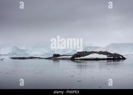Antarctica, Antarctic peninsula, Port Lockroy, old British Base - Stock Photo