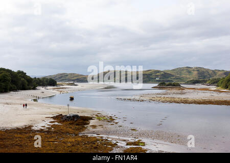 The estuary and beaches at Morar, just outside Mallaig, on the Road to the Isles, Highland, Scotland, in the late - Stock Photo