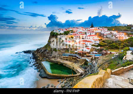 Azenhas do Mar, Portugal coastal town. - Stock Photo