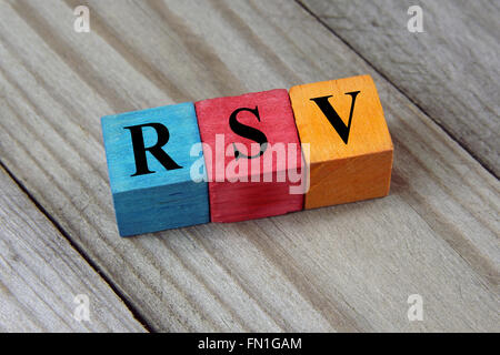 acronym on colorful wooden cubes - Stock Photo