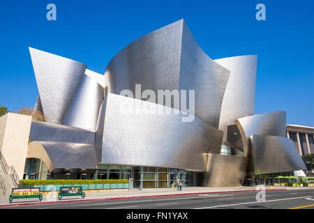 The Walt Disney Concert Hall in Los Angeles, California. - Stock Photo