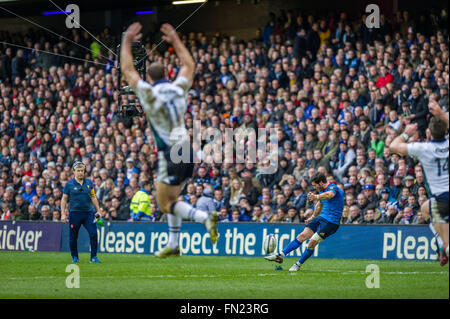 Edinburgh, Scotland, UK. 13th March, 2016.  Scotland play France at BT Murrayfield in the RBS 6 Nations Championship. - Stock Photo