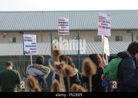 Yarl's Wood demonstration, Bedford, United Kingdom - Stock Photo