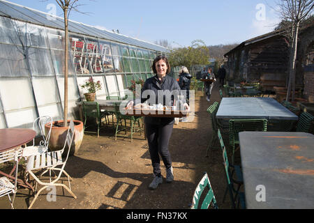 Petersham Nurseries bohemian jumble of greenhouses and gardens of Petersham House, Richmond Upon Thames, Surrey, - Stock Photo
