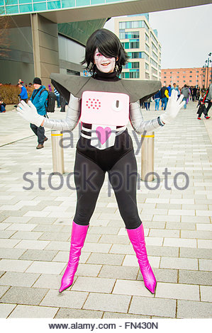 Liverpool, England UK, Sunday 13th March 2016. Fans of Comics, Superheroes & Anime,visit the 2nd day of Liverpool - Stock Photo