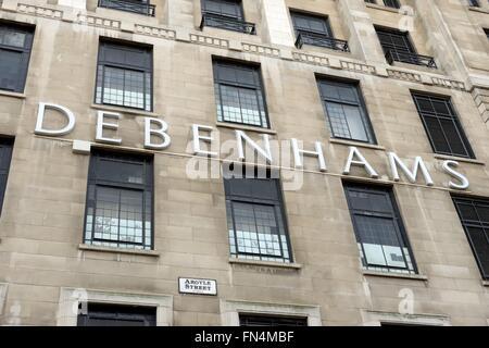 Large city centre Debenhams store building in Argyle Street, Glasgow city centre, Scotland, UK. - Stock Photo