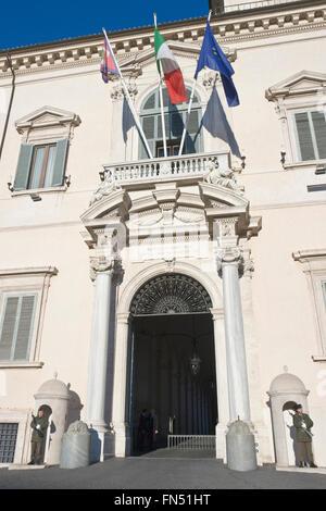 Gateway of the Palazzo del Quirinale - Stock Photo