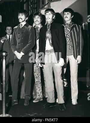 1972 - The Beatles as they look today. brought - up-to-date version of the famous four at Madame Tussaud with Ken - Stock Photo