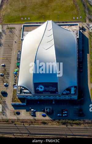 Aerial view, Metronome Theater at the Centro Oberhausen, Oberhausen, Ruhr area, North Rhine Westphalia, Germany, - Stock Photo