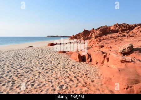 Pindan Cliffs, Cape Leveque, Dampier Peninsula, Kimberley Region,  Western Australia, WA, Australia - Stock Photo