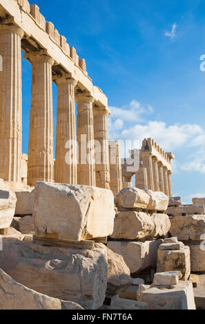 Athens - The Acropolis and the stones - Stock Photo