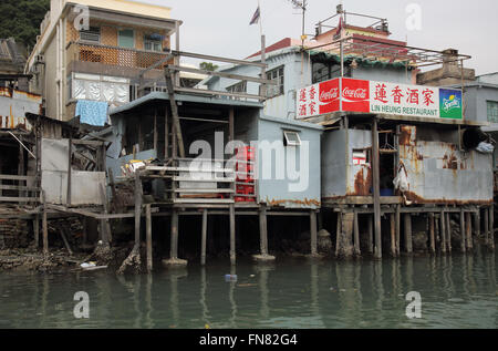 tai o stilted houses fishing village on lantau island hong kong - Stock Photo