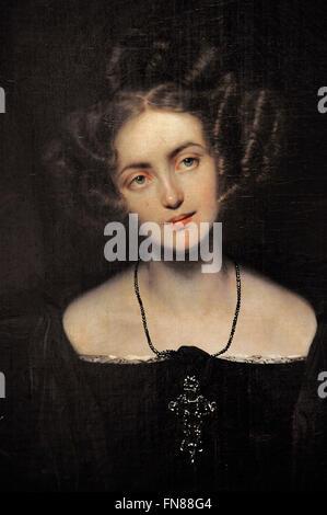 Paul Delaroche (1797-1856), born Hippolyte. French painter. Portrait of Henrietta Sontag as Donna Anna, 1831. Oil - Stock Photo