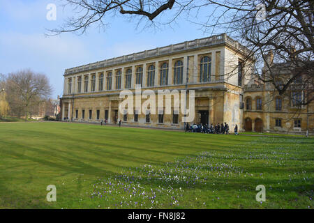The Wren Library, Trinity College, Cambridge University, England - Stock Photo