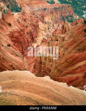 Canyon lands in Cedar Breaks National monument, Utah - Stock Photo