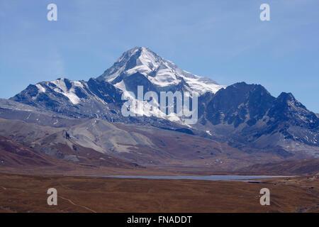 Huayna Potosi in the Cordillera Real, Bolivia - Stock Photo