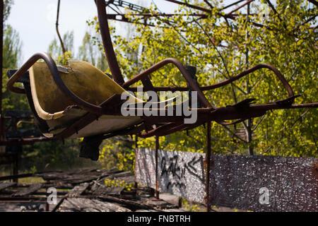 Chernobyl ferris wheel - Stock Photo