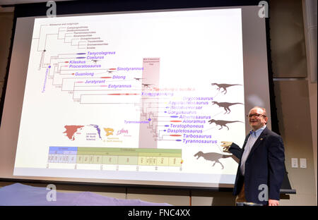 Washington, DC, USA. 14th Mar, 2016. Hans Sues, chair of the Department of Paleobiology at the Smithsonian's National - Stock Photo