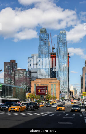 New York city architecture near Javits centr in New York, USA. - Stock Photo