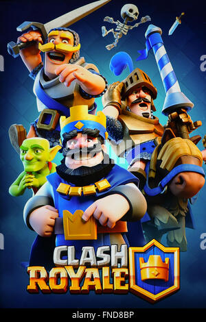 Clash Royale mobile game - Stock Photo